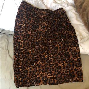 Old navy leopard cheetah skirt